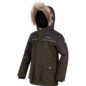 Regatta Paxton Waterproof Jacket Kids Dark Khaki/Dust